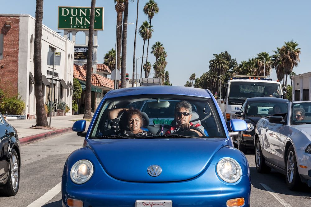 Blue Volkswagen - Hollywood, 2012